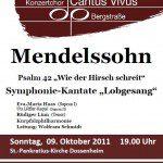 Plakat Mendelssohn